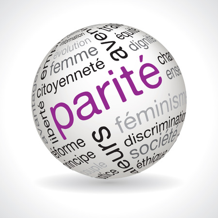 parity: French parity theme sphere vector with keywords