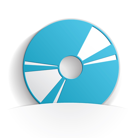cd icon paper style full vector