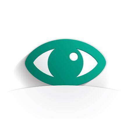 eye icon: eye icon paper style full vector