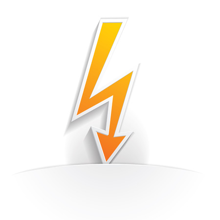 high voltage: high voltage icon paper style full vector