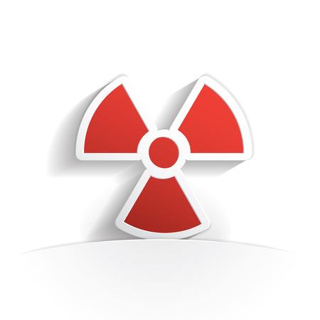 radioactivity: radioactivity paper icon style full vector Illustration