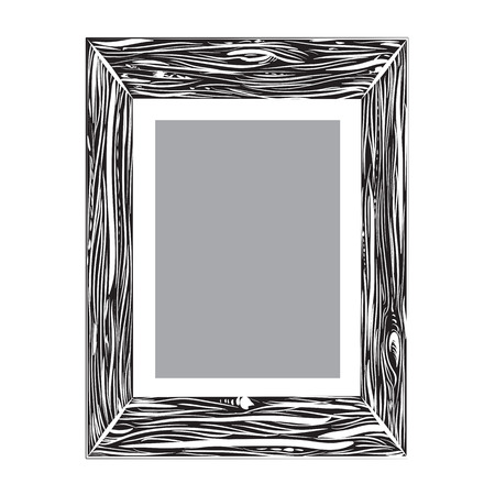customizable: Customizable vector picture frame isolated on white background Illustration