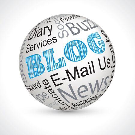 keywords: blog vector theme sphere with keywords