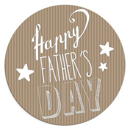 happy: Happy Fathers day card full vector elements Illustration