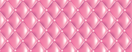 Vector quilt texture banner sweet pink colors Illustration