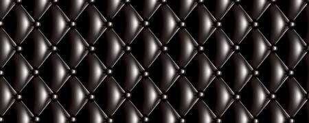 Vector quilt texture banner deep black color Illustration