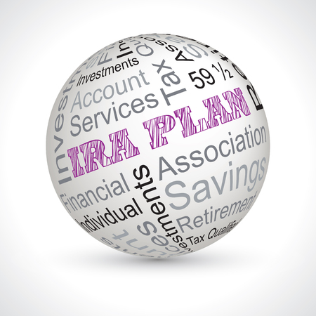 ira plan vector theme sphere with keywords