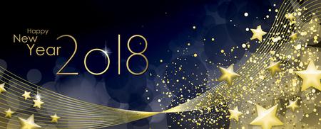 幸せな新しい年 2018年グリーティング カード ベクトル