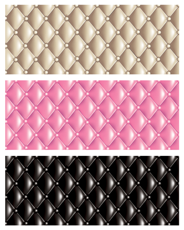 Set of vector quilt texture banners