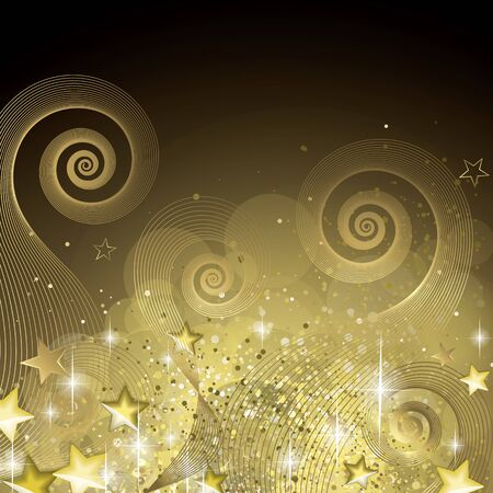 Fairy black and gold background full vector