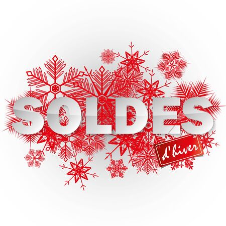French winter sales banner