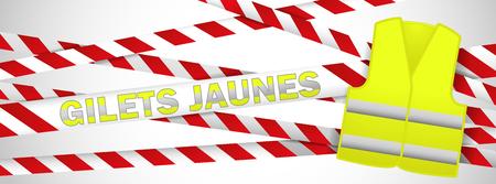 French yellow vest citizen banner