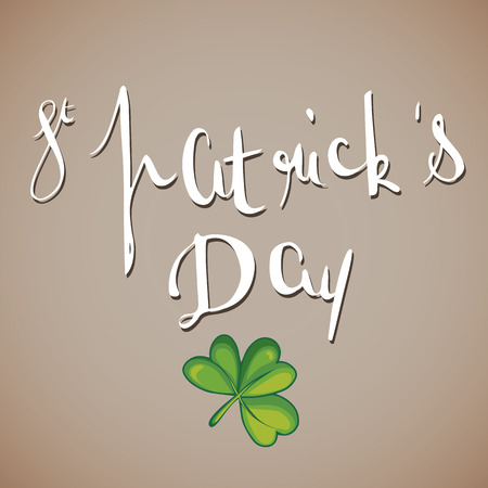 st patricks  vector illustration on white background