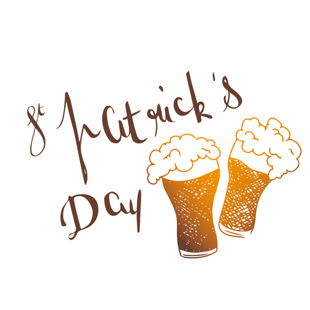 St patrick s day cheers beers vector illustration