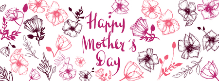 Happy Mother's Day full vector large banner Иллюстрация