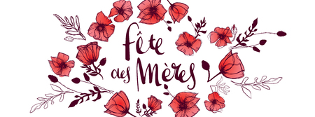 French Mother's Day full vector large banner