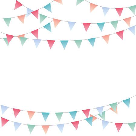 Banner de banderines de fiesta festiva dulce
