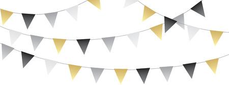 Banner de banderines de fiesta festiva dulce Ilustración de vector