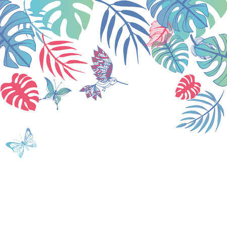 Sweet summer illustration doodles background