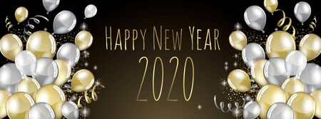 happy new year 2020 vector large banner Stok Fotoğraf - 131994231