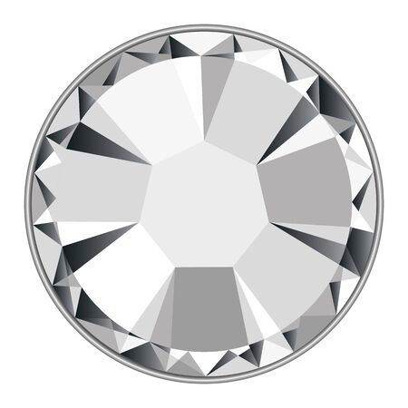 Full vector diamond strass isolated on a white background Vector Illustration