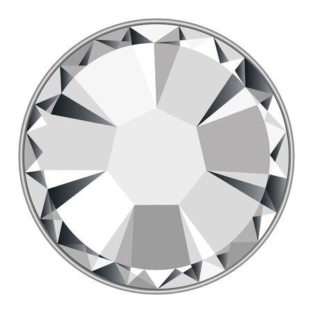 Strass de diamante de vector completo aislado en un fondo blanco Ilustración de vector