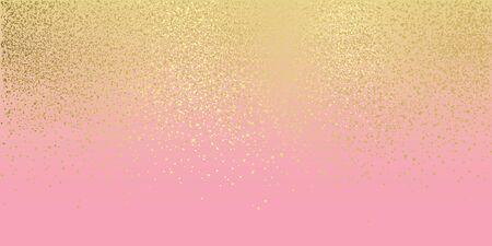 Pink and gold glitter background large banner element Vektorové ilustrace