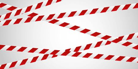 red and white tape background illustration banner