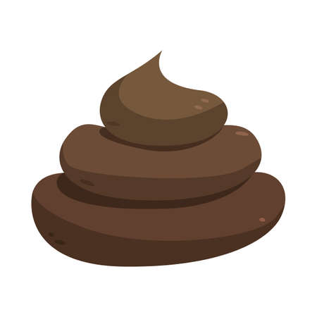 Poop illustration isolated on a white background