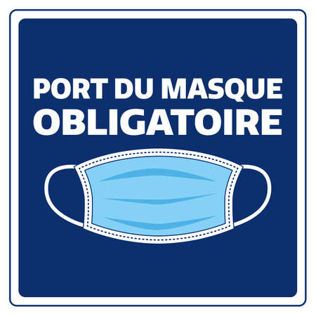 French face mask required covid 19 illustration