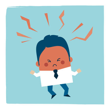 Illustration of an angry businessman