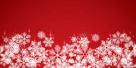 Sweet winter white snowflakes full vector background Illustration