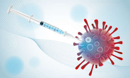 Covid 19 vaccine illustration banner