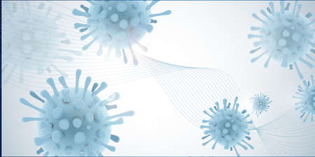 Coronavirus covid 19 design illustration large banner