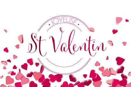 French valentines day hearts illustration Illustration