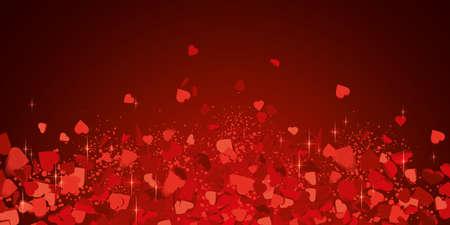 Rain of love hearts illustration Illustration