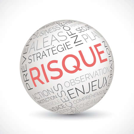 French risk theme sphere with keywords