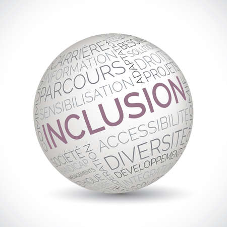 French inclusion theme sphere with keywords