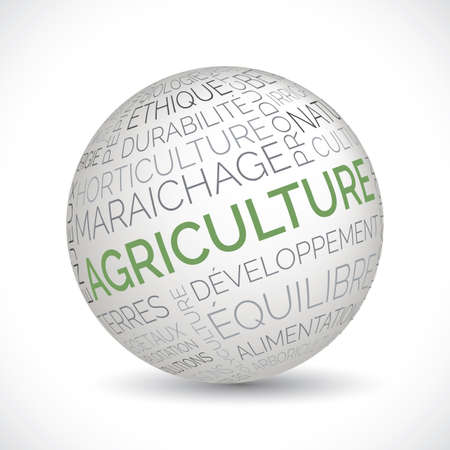 French agriculture theme sphere with keywords