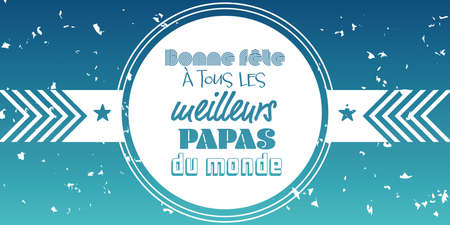 french fathers day card banner large illustration