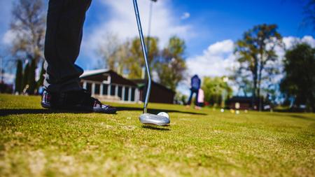 Golfball Club T-Shirt Golfspieler Nahaufnahmen Standard-Bild - 80625855