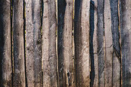 Nahaufnahme der Linie hellbraun Holzzaun Standard-Bild - 80888933