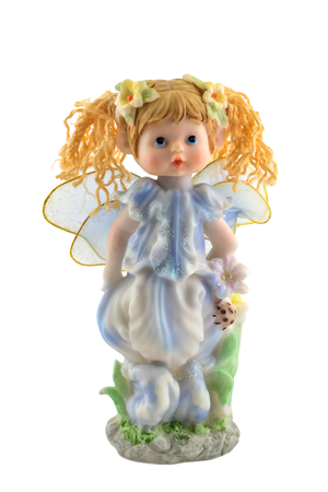 isolated figurine of an angel with beautiful wings Imagens - 118768009