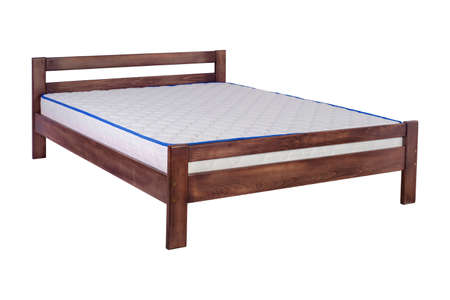 double bed on a white background Imagens