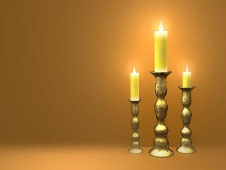 taper: Candles - 3d render