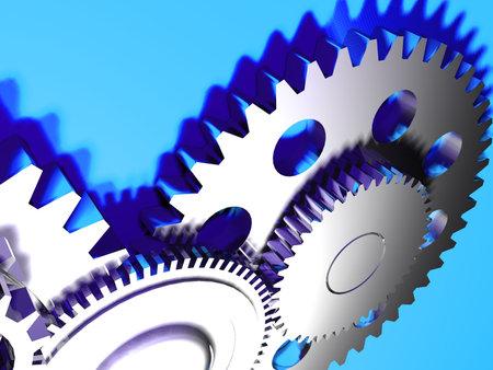 exactness: Mechanism concept - 3d render