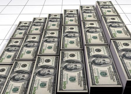 increment: Piles of dollars