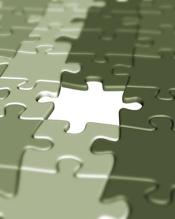 Pi�ces de puzzle - 3d rendre