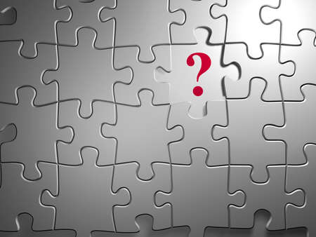 Puzzle with question mark