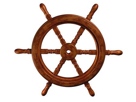 vapour: Navigation wheel Stock Photo
